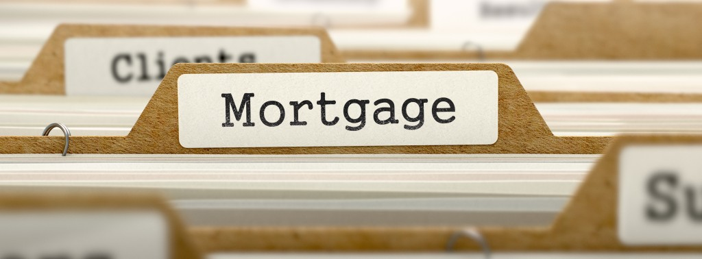 Mortgage Concept with Word on Folder.